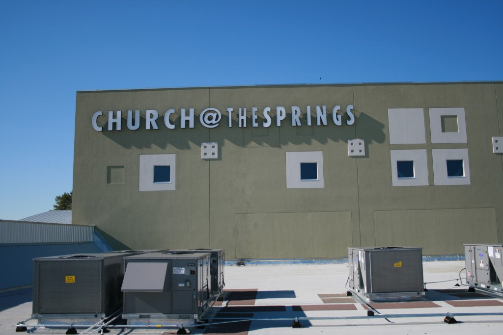 Church of the Springs Electrical Roof Work